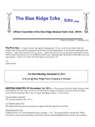 Blue ridge amateur radio club