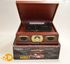 studebaker sb6052 wooden turntable with am fm radio and cassette player for