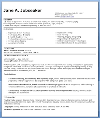 Sample Resume Of Manual Tester Resume Layout Com