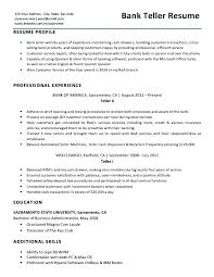 Resume For Bank Teller Resume Writing Tips And Samples Bank Teller Stunning Resume For Bank Teller