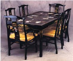 black lacquer dining room furniture. rectangle chinese dining set oriental with motherofpearl furniture black lacquer room
