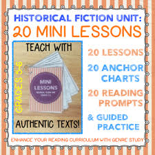 Historical Fiction Anchor Chart 20 Historical Fiction Mini Lessons With Anchor Charts Guided Practice Gr 5 6