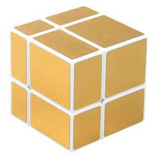<b>Shengshou</b> 2X2 Mirror Blocks Magic <b>Cube</b>(Gold Wiredrawing ...