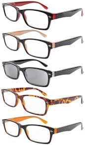 Eyekepper <b>Reading Glasses</b> 5-pack Quality Spring Hinge Includes ...
