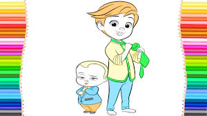 The Boss Baby Coloring Pages For Kids Youtube