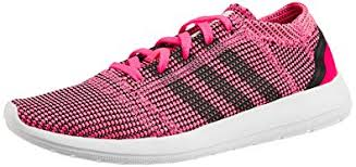 adidas shoes pink and white. adidas women\u0027s element refine tricot w pink, white and black mesh running shoes - 4 pink d