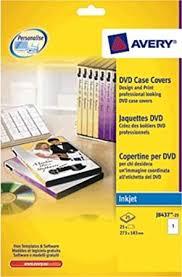 Avery Labels Dvd Avery J8437 25 Dvd Case Inserts 1 Label Per A4 Sheet Amazon Co Uk