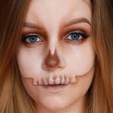 orange skull y skeleton makeup ideas you should wear this