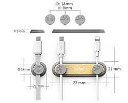 <b>Bcase Magnetic Cable</b> Clamps <b>Desktop Cable</b> Clips Organizer w& ...