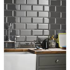 grey kitchen wall tile beveled metro field 100mm x 200mm of kitchen wall tiles
