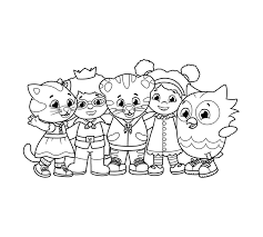 Tiger coloring sheets are popular with kids of all ages. Art Daniel Tiger Pbs Kids
