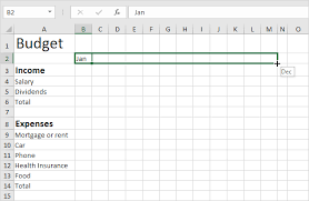 How To Make A Monthly Budget On Excel Budget Template In Excel Easy Excel Tutorial