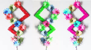 how to make paper flower wall hanging diy paper wall hanging wall decoration ideas eti s