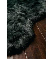 gray faux sheepskin rug home interior decorating ideas free