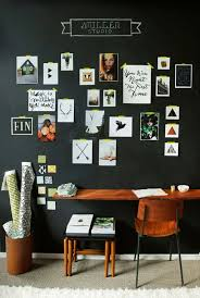 office chalkboard. Home Office With Mounted Desk And Chalkboard Wall Paint