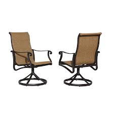 Shop allen + roth Safford 2-Count Brown Aluminum Patio Dining ...