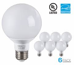 6 pack g25 globe led light bulb 5w 40w equiv energy star 2700k soft white vanity bulb for pendant bathroom dressing room decorative lighting