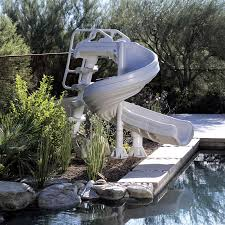 inground pools with waterslides. Brilliant With GForce Water Slide On Inground Pools With Waterslides D
