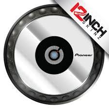pioneer 850. pioneer cdj-850/900/1000/2000/xdj-1000/ddj-sz platter skinz (pair) - metallics 850 e