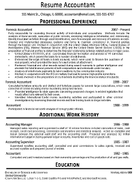 Sample Resumes For Accounting Example Resume For Accounting Student