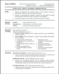 Stylish Idea Dba Resume 11 Oracle Database Administrator Sample