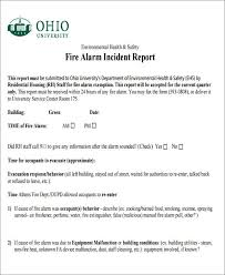 47 Incident Report Samples