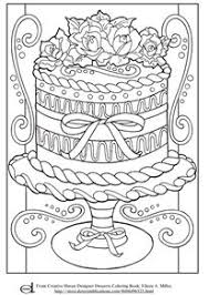 coloring paged. Plain Coloring Adult Coloring Page  Decorative Cake Intended Paged N