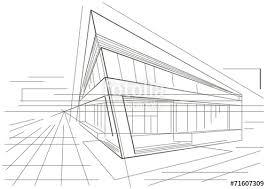 modern architecture sketch. Architectural Sketch Of Modern Corner Building Architecture E