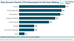 Decision Making Charts And Diagrams Data Sources Used By Customer Experience Professionals For
