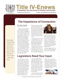 The Importance of Connection Legislators Need Your Input