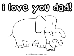 i love you dad baby elephant coloring page lovely fathers day