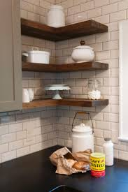 Open Corner Shelving for Kitchen Storage