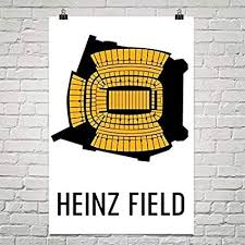 Pittsburgh Heinz Field Seating Chart Amazon Com Modern Map Art Heinz Field Print Heinz Field