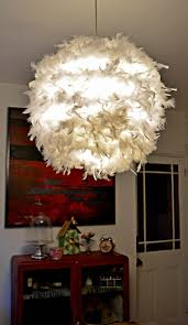 diy feather lampshade this simple ikea regolit will add a touch of