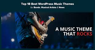 Music Website Templates Fascinating Top 48 Best WordPress Music Themes For Bands Musical Artists News