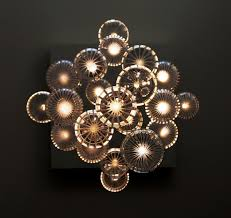image of glass contemporary chandelier