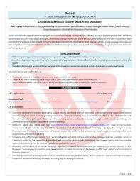 Digital Marketing Sample Resumes Download Resume Format Templates