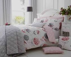 cotton rich ine white pink grey duvet cover set cushions and bedspread the better sleep company
