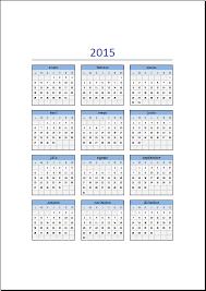 Calendarios Para Imprimir 2015 Calendario 2015 En Excel Excel Total