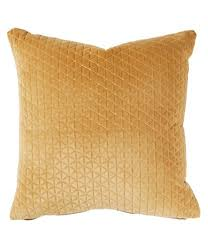 Image Eurosounds Villa By Noble Excellence Velvet And Linen Square Pillow Dillards Yellow Home Decor Accents Dillards
