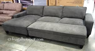 sofa with ottoman chaise. Fine With Chaise Sofa With Storage Ottoman Costco FrugalHotspot Throughout With Ottoman