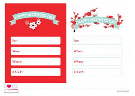 Mothers Day Card Template Simple FREE Mother's Day Printables From Love Party Printables Catch My Party