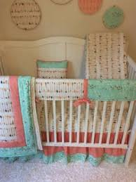 U Baby Girl Crib Bedding Set Coral And Mint Birds Arrows Nursery