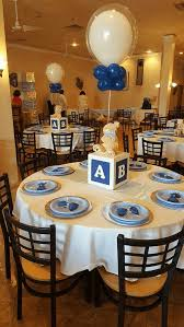12 cute baby shower table ideas blue balloon baby block centerpiece