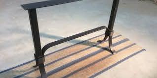 metal sofa table legs reclaimed pine