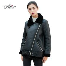 2019 new 2018 women moto biker leather jacket casual long sleeve fake lamb wool patchwork winter loose black jacket jaqueta feminina from qingyun1996
