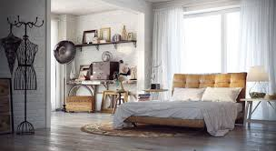 Shabby Chic Table Lamps For Bedroom Bedroom Shabby Chic Industrial Bedroom With White Bed Feat Brown