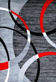 red gray rug gray red contemporary area rugs red black gray white rug