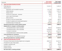 What Is A Cash Flow Report Consolidated Cash Flow Statement Igaap Glenmark Annual Report