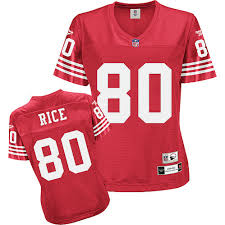 Impact Jersey 80 Francisco Jerry Game Womens San 49ers Rice Black Nfl